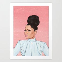 queen of rap Art Print