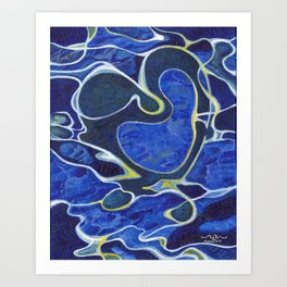 Love Flows Like Water Art Print