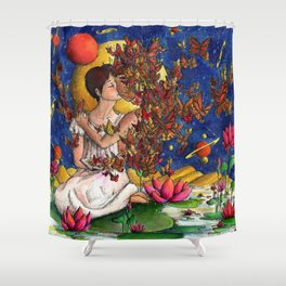 In love with a story Shower Curtain