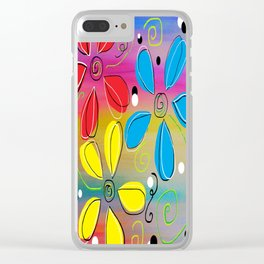 Bright Flowers Intertwined Clear iPhone Case