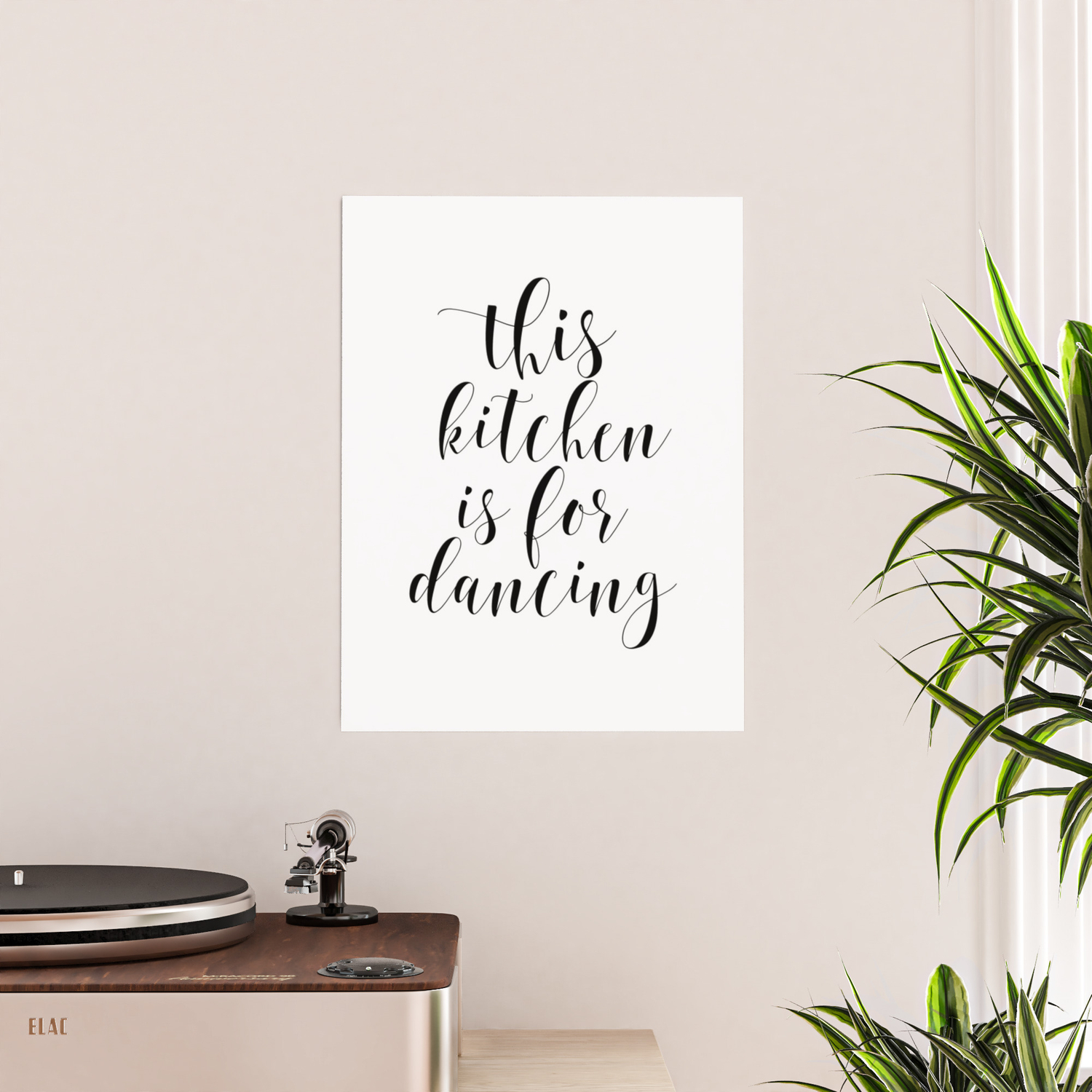 This Kitchen Is For Dancing Kitchen Art Kitchen Quote Poster By Artbynikola Society6