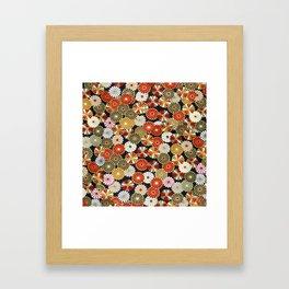 Golden Chrysanthemums Framed Art Print