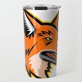 Maned Wolf Mascot Travel Mug