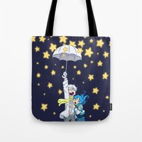 dmmd Tote Bags featuring DMMd :: The stars are falling by Magnta