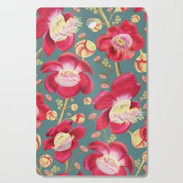 Cannonball Tree Pattern - Turquoise Cutting Board