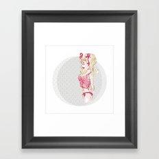 Blondy Girl Framed Art Print