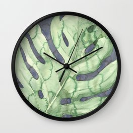 Deliciosa monstera Wall Clock