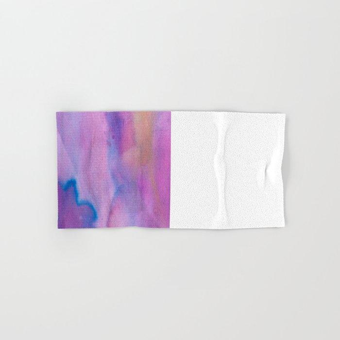 Purple Watercolour Hand & Bath Towel