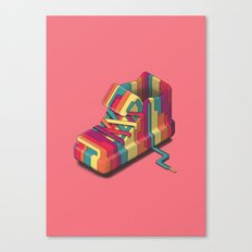 Streaky Shoe Canvas Print