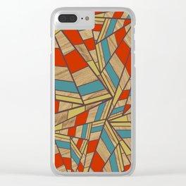 Teak Triangles Clear iPhone Case