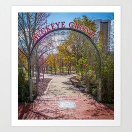 Ohio Buckeye Grove Print Art Print
