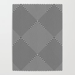 Striped optical illusion repeating texture. Poster