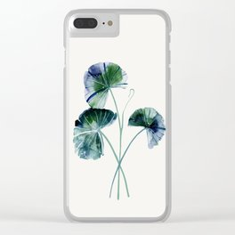 Water lily leaves Clear iPhone Case