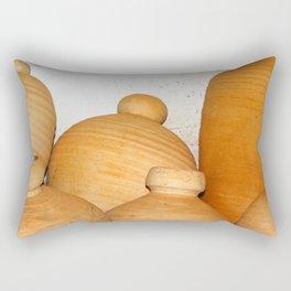 Terra Cotta Pots Rectangular Pillow