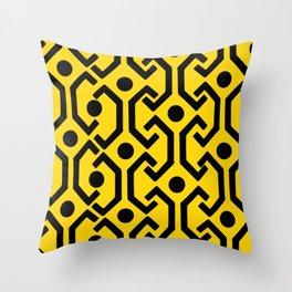 Ethnic Pattern (Yellow) Throw Pillow