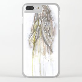 eating bananas Clear iPhone Case