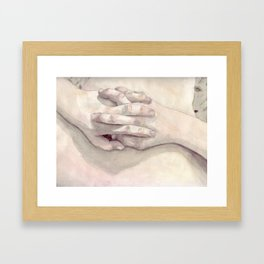 Lucas' Hands Framed Art Print