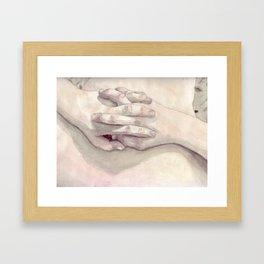 Lucas' Hands Framed Art Print