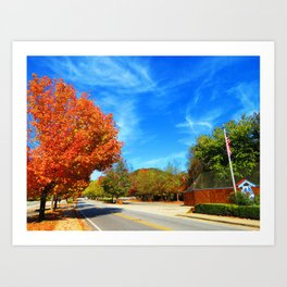 Fall Road Art Print