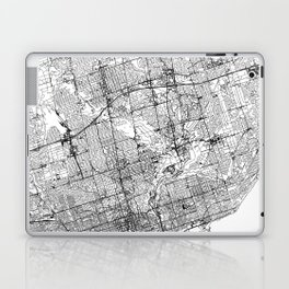 Toronto White Map Laptop & iPad Skin