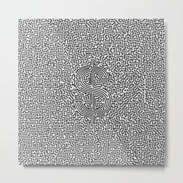 Ultimate dollar maze Metal Print