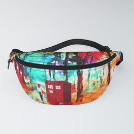 Tardis Art With A Woman Fanny Pack
