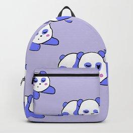 Purple Berry sleepy pandas Backpack