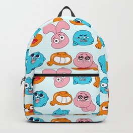 Gumball Faces Pattern Backpack