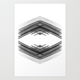 Future Boho - Black and White Minimal Geometric Art Art Print