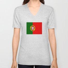flag of portugal -Portuguese,mirandese,Portugués,lisbon,porto. Unisex V-Neck