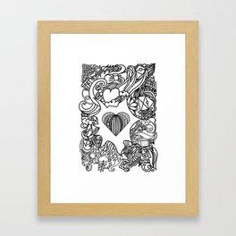 Love and Doodles Black Framed Art Print