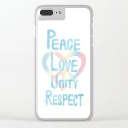 PLUR HEART - 2 Clear iPhone Case