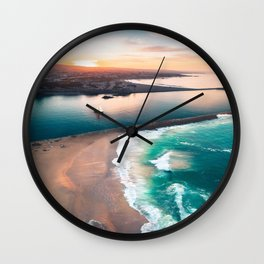Sky view for the beach in the sunset Wall Clock