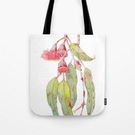 Flowering Silver Princess Eucalyptus Watercolour Tote Bag