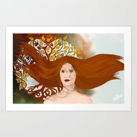lydia martin Art Prints featuring Lydia Martin: Banshee Queen by reliand