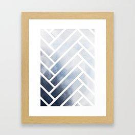 winter herringbone Framed Art Print