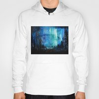 northern lights Hoodies featuring Northern Lights by VivianLohArts
