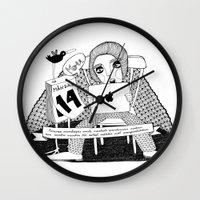 swedish Wall Clocks featuring Swedish Alliteration by Karin Ohlsson