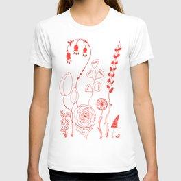 Flowers orange illustration T-shirt