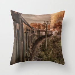 Evening Train Throw Pillow