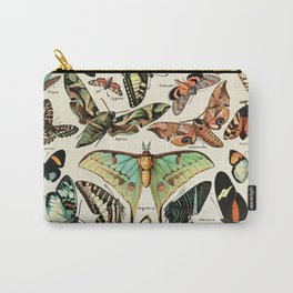 Papillon I Vintage French Butterfly Charts by Adolphe Millot Carry-All Pouch