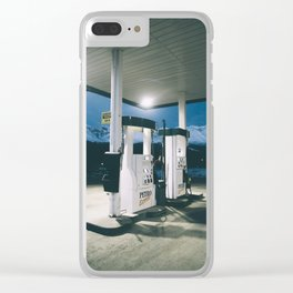Yukon Gas Station Clear iPhone Case