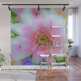 Bouquet in Blue and Pink 1 - enhanced Chrysanthemum Wall Mural
