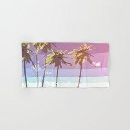 Retro Coconut Trees Art Hand & Bath Towel