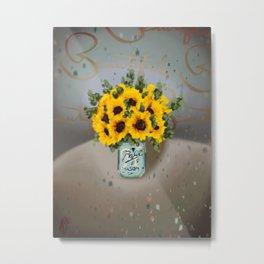 Jar of Flowers H, take two Metal Print