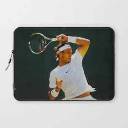 Nadal Tennis Over the Head Forehand Laptop Sleeve