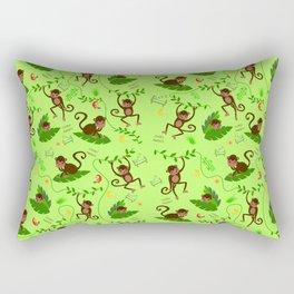 Jumping cheeky monkeys 01 Rectangular Pillow