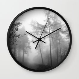 TROUGHT THE FOREST Wall Clock