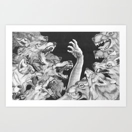 The Wolves are Coming Art Print