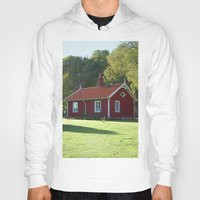 swedish Hoodies featuring Swedish Cottage  by Sarah Osterman